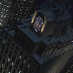 "Secret hideout of the WB's ""Birds of Prey,"" the Gotham Clock Tower!"