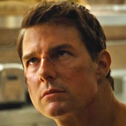 tom cruise headshot never look back